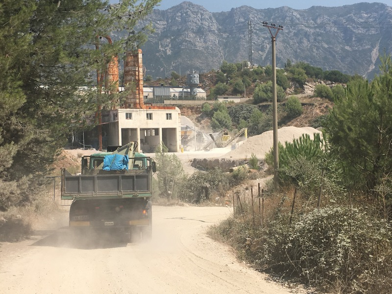 Kruja Mountain is fragmented every day by numerous quarry careers