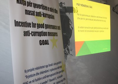 Promote good governance and anti-corruption measures