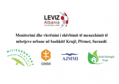 Urban waste management in the municipalities of Kruja, Përmet, and Saranda.