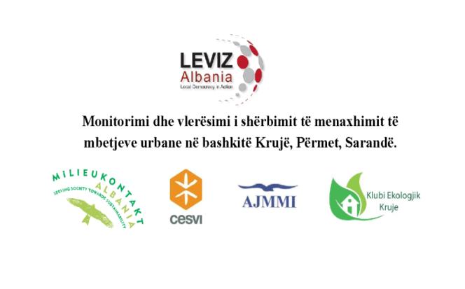 Urban waste management in the municipalities of Kruja, Përmet, and Saranda.
