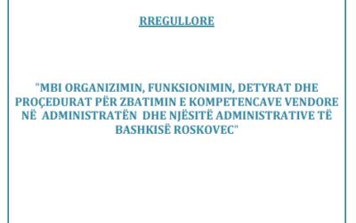Rregullore Bashkia Roskovec