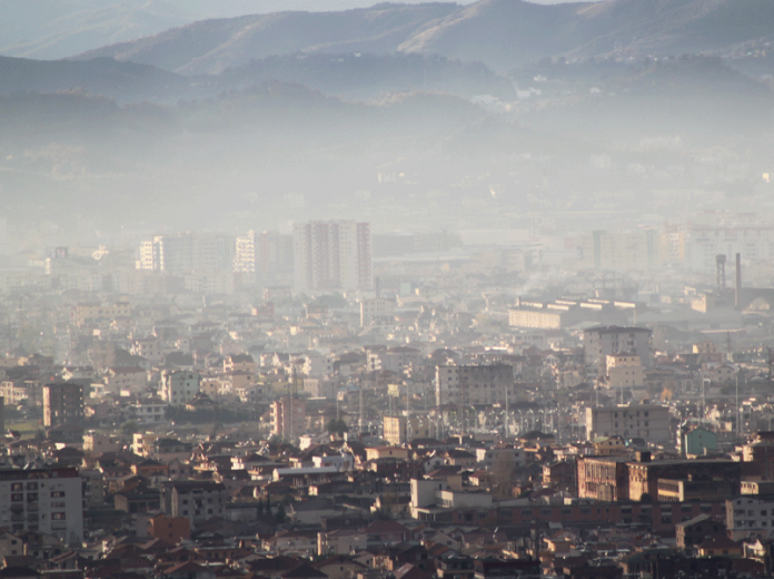 How polluted is the air in Tirana?